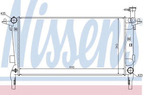 Радиатор охлаждения NISSENS 67554