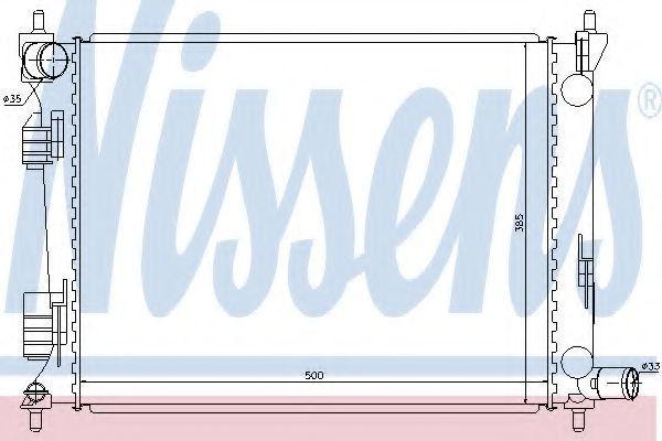 Радиатор охлаждения NISSENS 66756