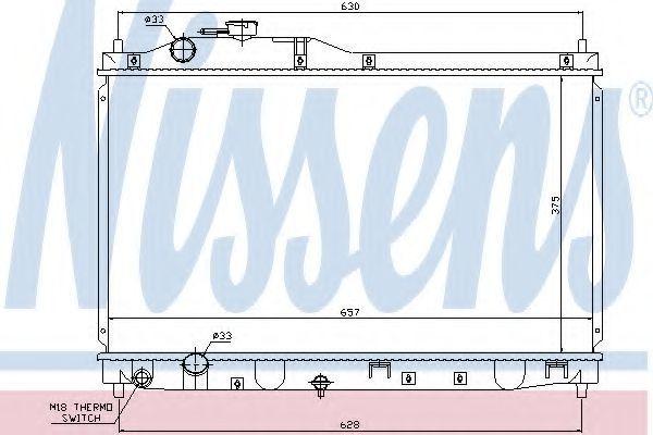 Радиатор охлаждения NISSENS 68145