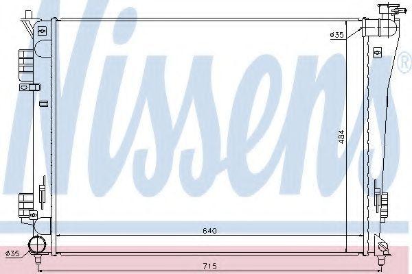 Радиатор охлаждения NISSENS 67550