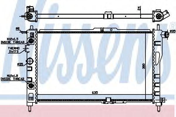 Радиатор охлаждения NISSENS 616521