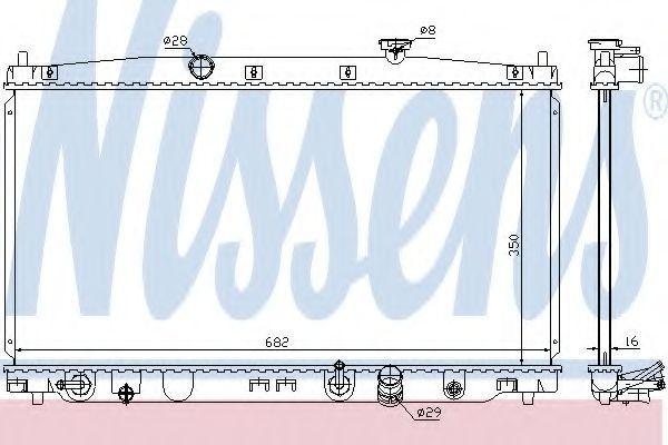 Радиатор охлаждения NISSENS 68149