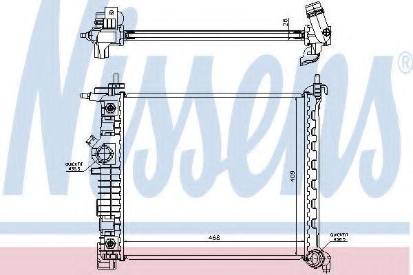 Радиатор охлаждения NISSENS 630737