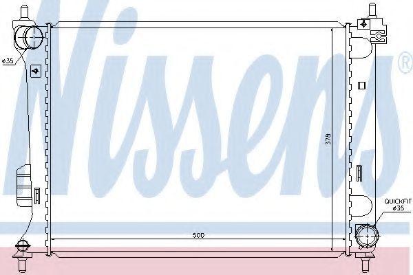 Радиатор охлаждения NISSENS 67609