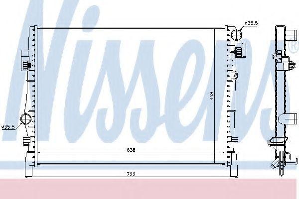 Радиатор охлаждения NISSENS 61027
