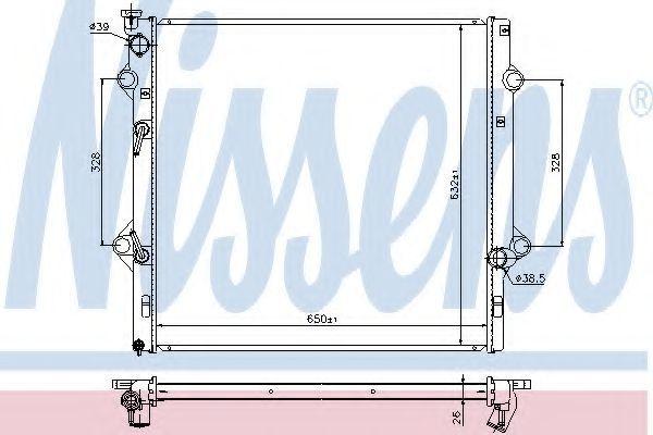 Радиатор охлаждения NISSENS 646818