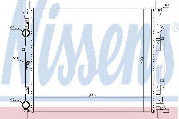 Радиатор охлаждения NISSENS 637623