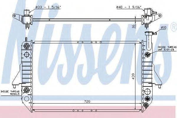Радиатор, охлаждение двигателя NISSENS 60909
