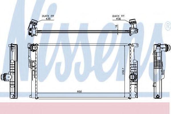 Радиатор охлаждения NISSENS 60814