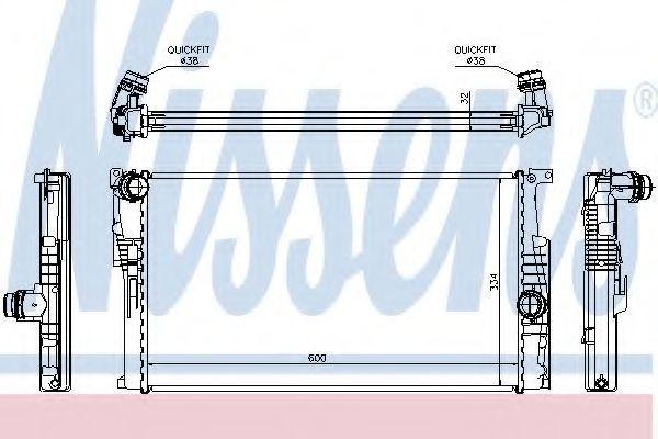 Радиатор охлаждения NISSENS 60816