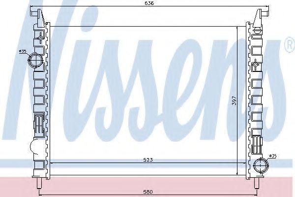 Радиатор охлаждения NISSENS 617862