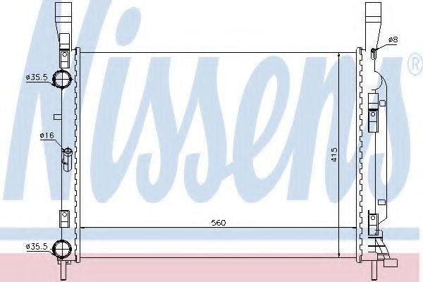 Радиатор охлаждения NISSENS 637628