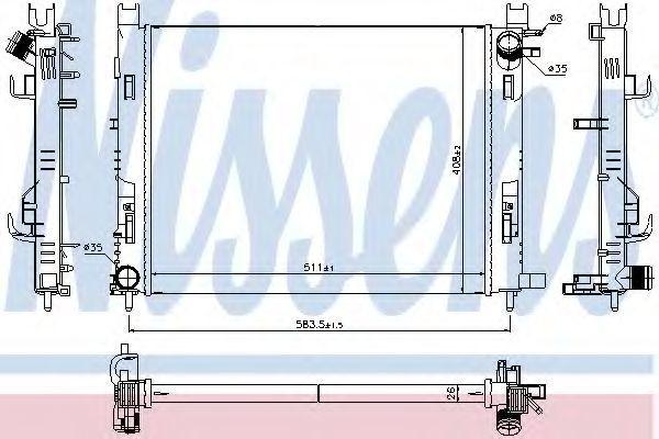 Радиатор охлаждения NISSENS 637624
