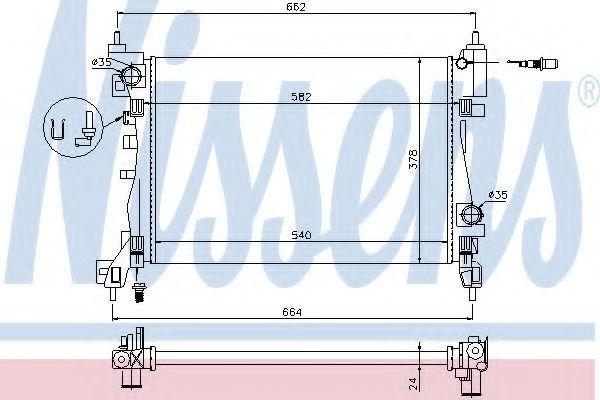 Радиатор охлаждения NISSENS 630743