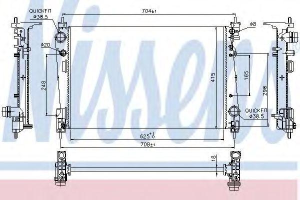 Радиатор охлаждения NISSENS 617864