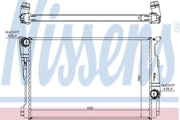 Радиатор охлаждения NISSENS 60808