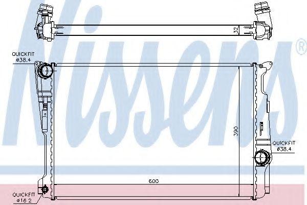 Радиатор охлаждения NISSENS 60809