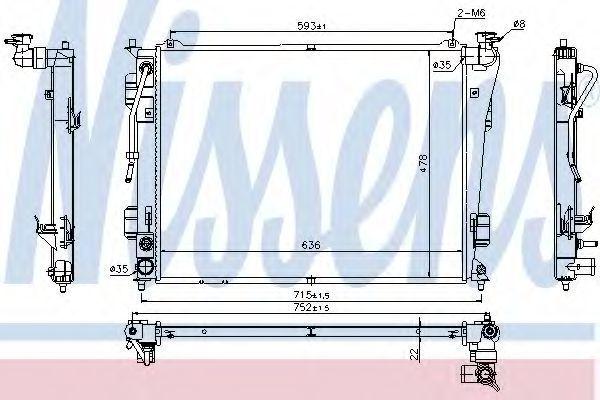 Радиатор охлаждения NISSENS 675012