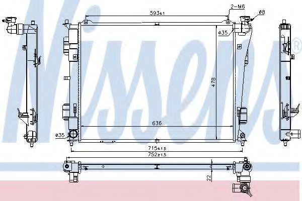 Радиатор охлаждения NISSENS 66783