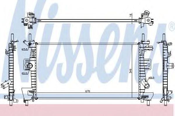 Радиатор охлаждения NISSENS 69237