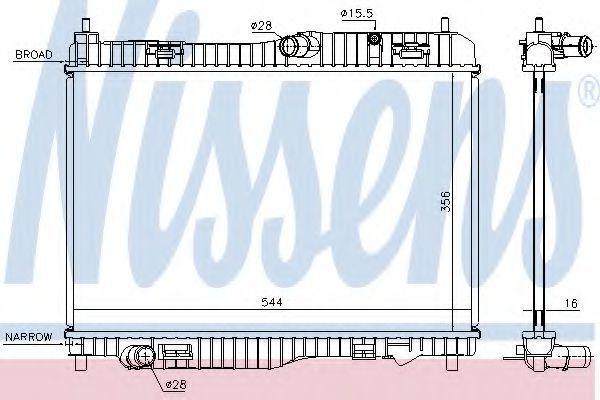Радиатор охлаждения NISSENS 66858