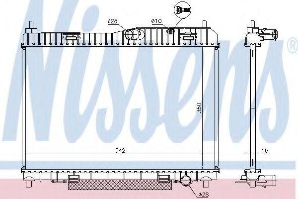 Радиатор охлаждения NISSENS 66859