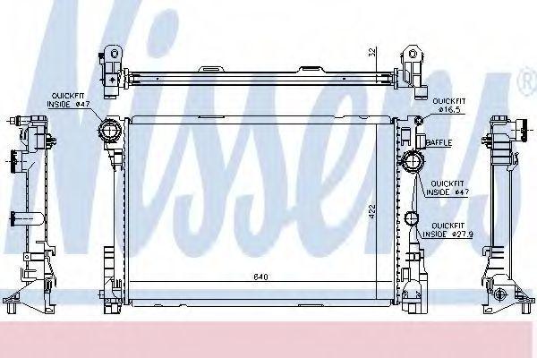 Радиатор охлаждения двигателя NISSENS 67167