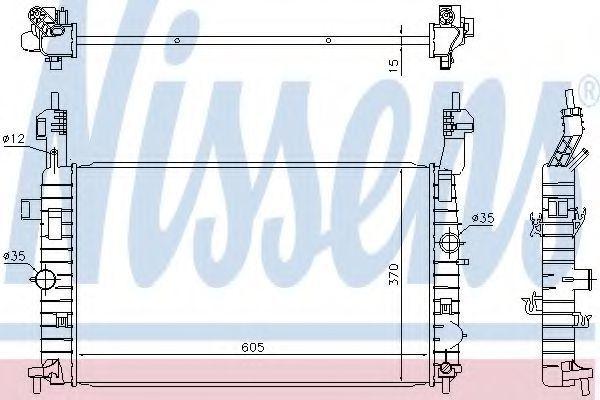 Радиатор охлаждения NISSENS 630748