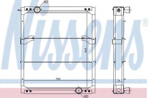 Радиатор, охлаждение двигателя NISSENS 6719603