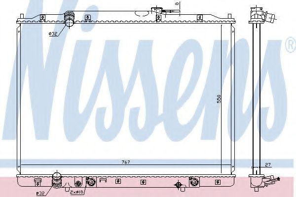 Радиатор, охлаждение двигателя NISSENS 68151