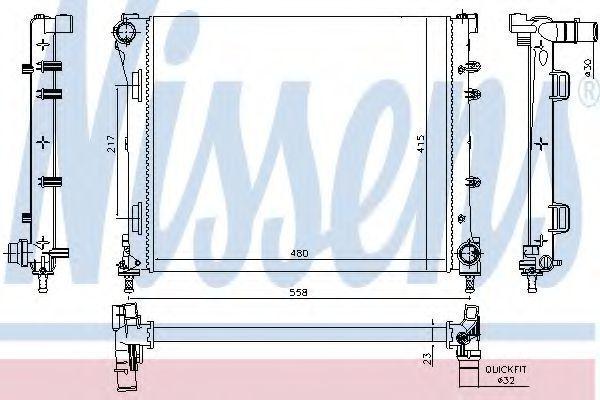 Радиатор охлаждения NISSENS 61937