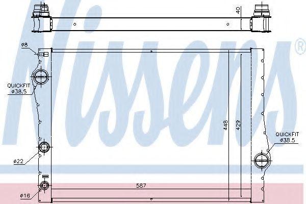 Радиатор охлаждения NISSENS 60823