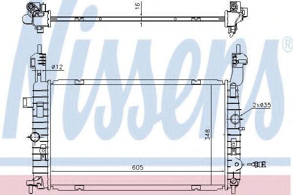 Радиатор охлаждения NISSENS 630747