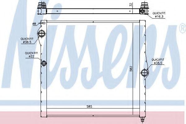 Радиатор охлаждения NISSENS 60826