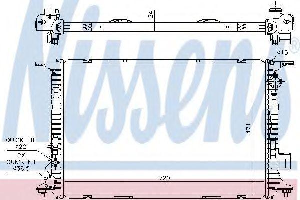 Радиатор охлаждения NISSENS 60326