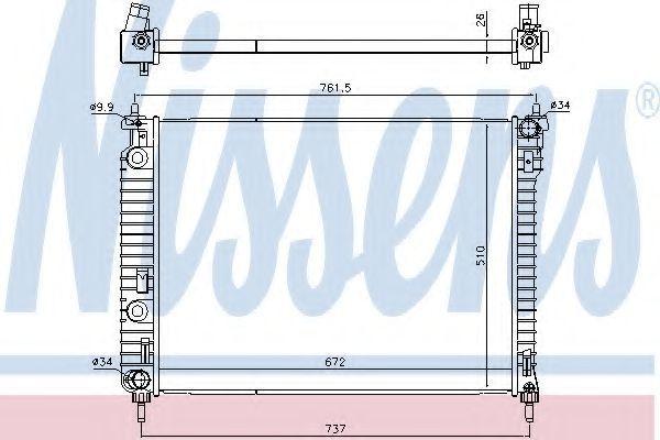Радиатор охлаждения NISSENS 616905