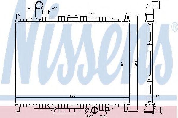 Радиатор охлаждения NISSENS 64332