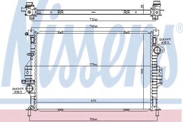 Радиатор охлаждения NISSENS 66862