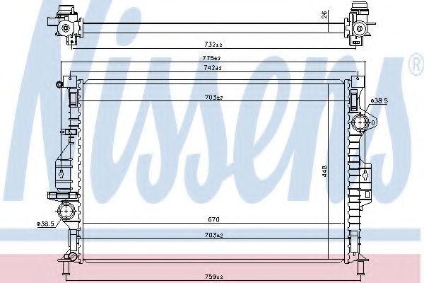 Радиатор охлаждения NISSENS 66863