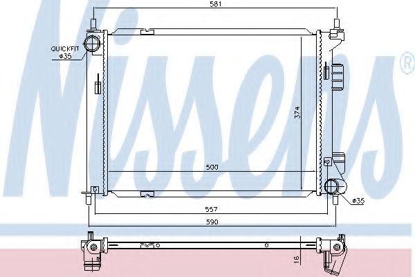 Радиатор охлаждения NISSENS 67603