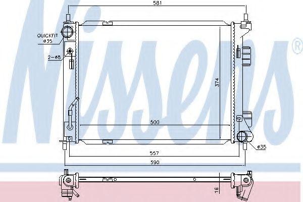 Радиатор охлаждения NISSENS 67604