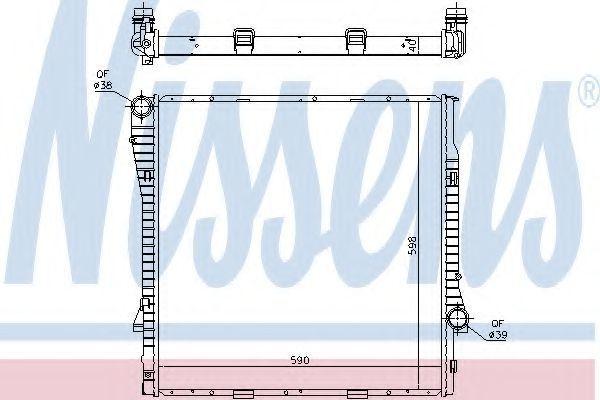 Радиатор охлаждения NISSENS 60819