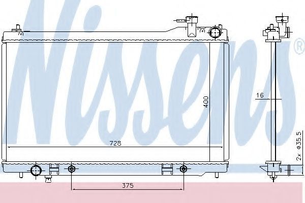 Радиатор охлаждения NISSENS 681212