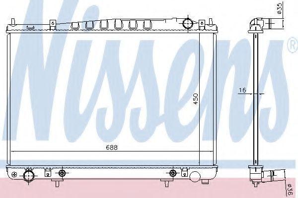 Радиатор, охлаждение двигателя NISSENS 681209