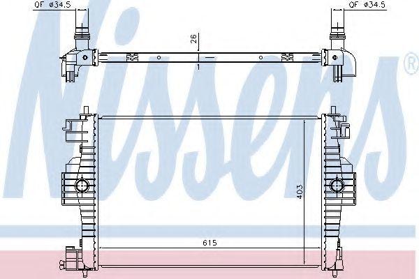 Радиатор охлаждения NISSENS 636012