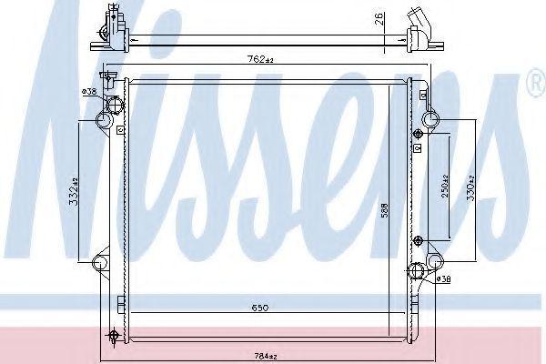 Радиатор, охлаждение двигателя NISSENS 64661