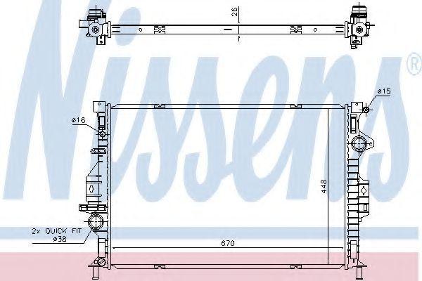 Радиатор охлаждения NISSENS 69249