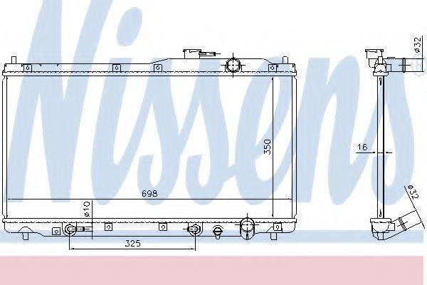 Радиатор, охлаждение двигателя NISSENS 68146