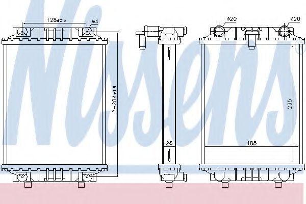 Радиатор охлаждения NISSENS 60351