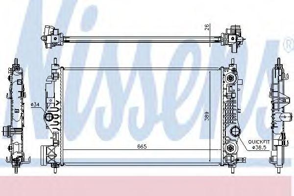 Радиатор охлаждения NISSENS 630762